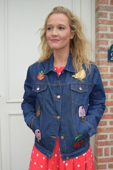 Kleding :: Jeansvest met glitter - Glamorous