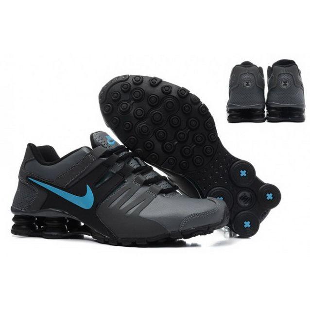Nike Shox Current Shoes Black Blue Logo