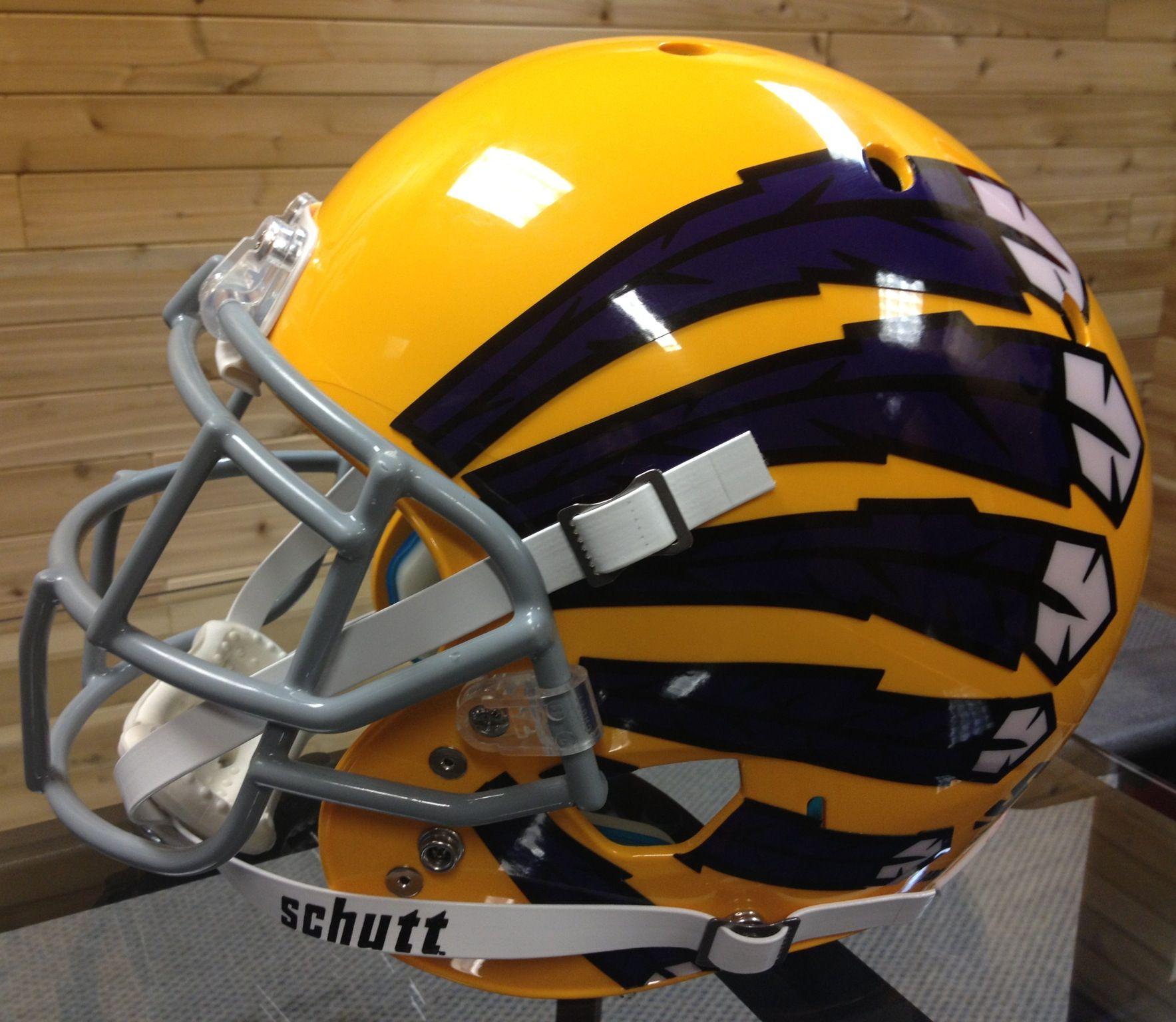 Check out this oversize half helmet headdress football