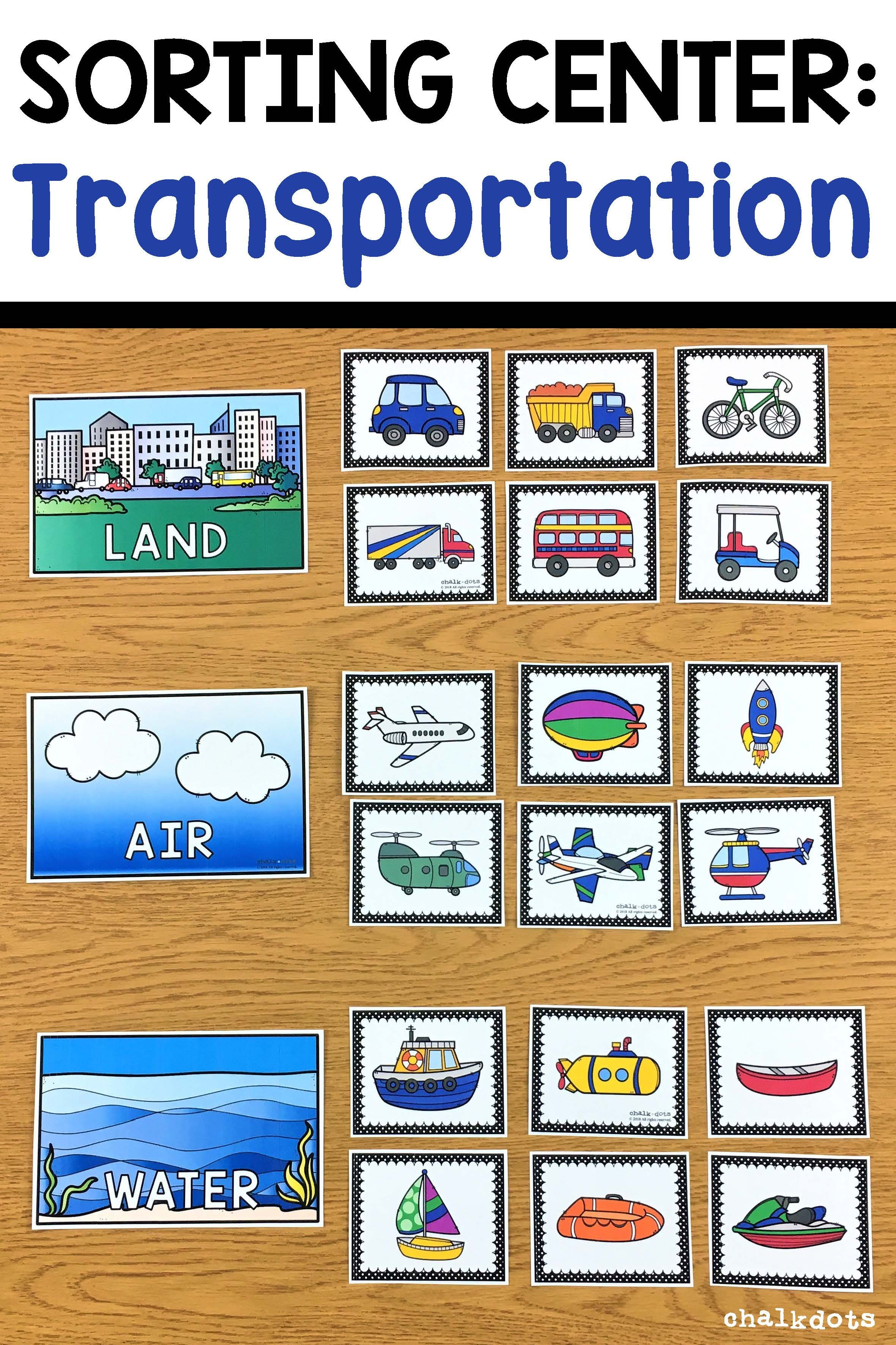 This hands-on activity is a fun way to help your children classify vehicles by determining whether they travel on land