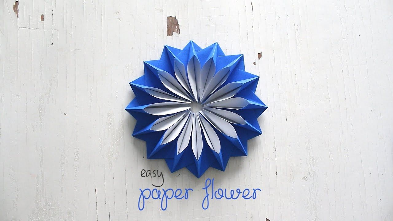 Diy Easy Paper Flower Youtube Origami Pinterest Origami