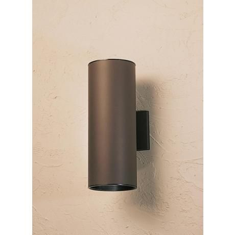 Kichler Tube 15 High Bronze Up Down Tube Light 34246 Lamps Plus Outdoor Wall Lighting Lighting Barn Lighting