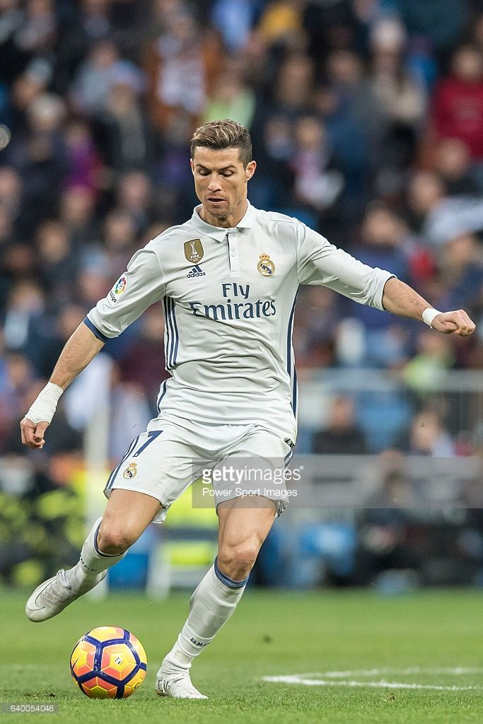 Cristiano Ronaldo (r) of Real Madrid in action during their La Liga 2016-17  match between Real Madrid and Malaga CF at the Estadio Santiago Bernabéu on  21 ... 8b95144e3fc89
