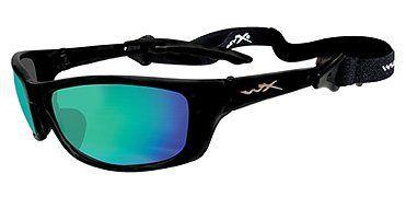 839d7f444dc82 WILEY X P-17 Polarized Sunglasses Emerald Lenses Gloss Black Frame   P17-GM  Wiley X.  99.49