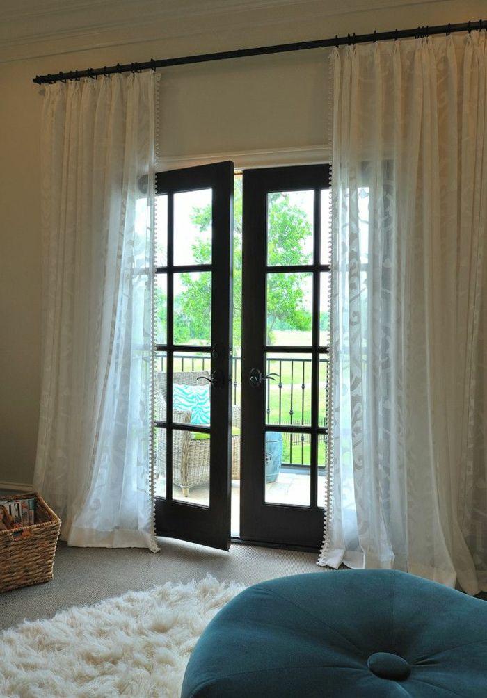 le rideau voilage dans 41 photos deco voilage rideaux. Black Bedroom Furniture Sets. Home Design Ideas