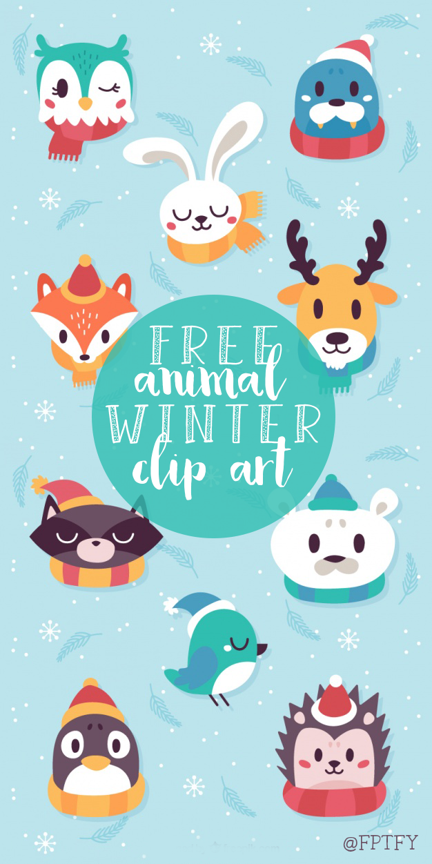 December Design and Winter Animal Freebie Christmas