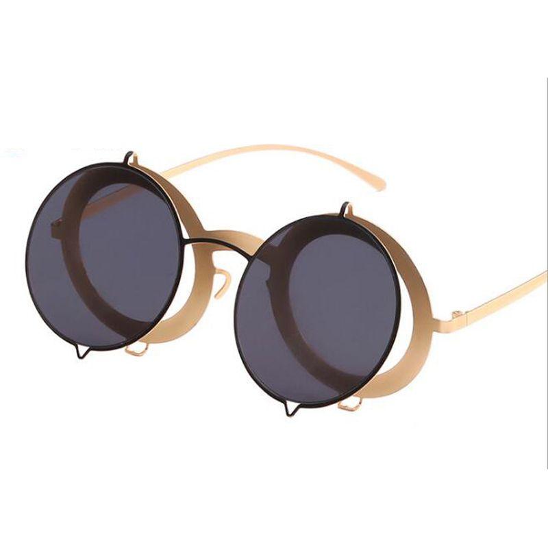 Peekaboo 2018 Retro Round Sunglasses Women Men Brand