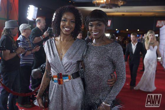 Lotus Lain And Ana Foxxx Ebony Women Lotus Behind Red Carpet Awards