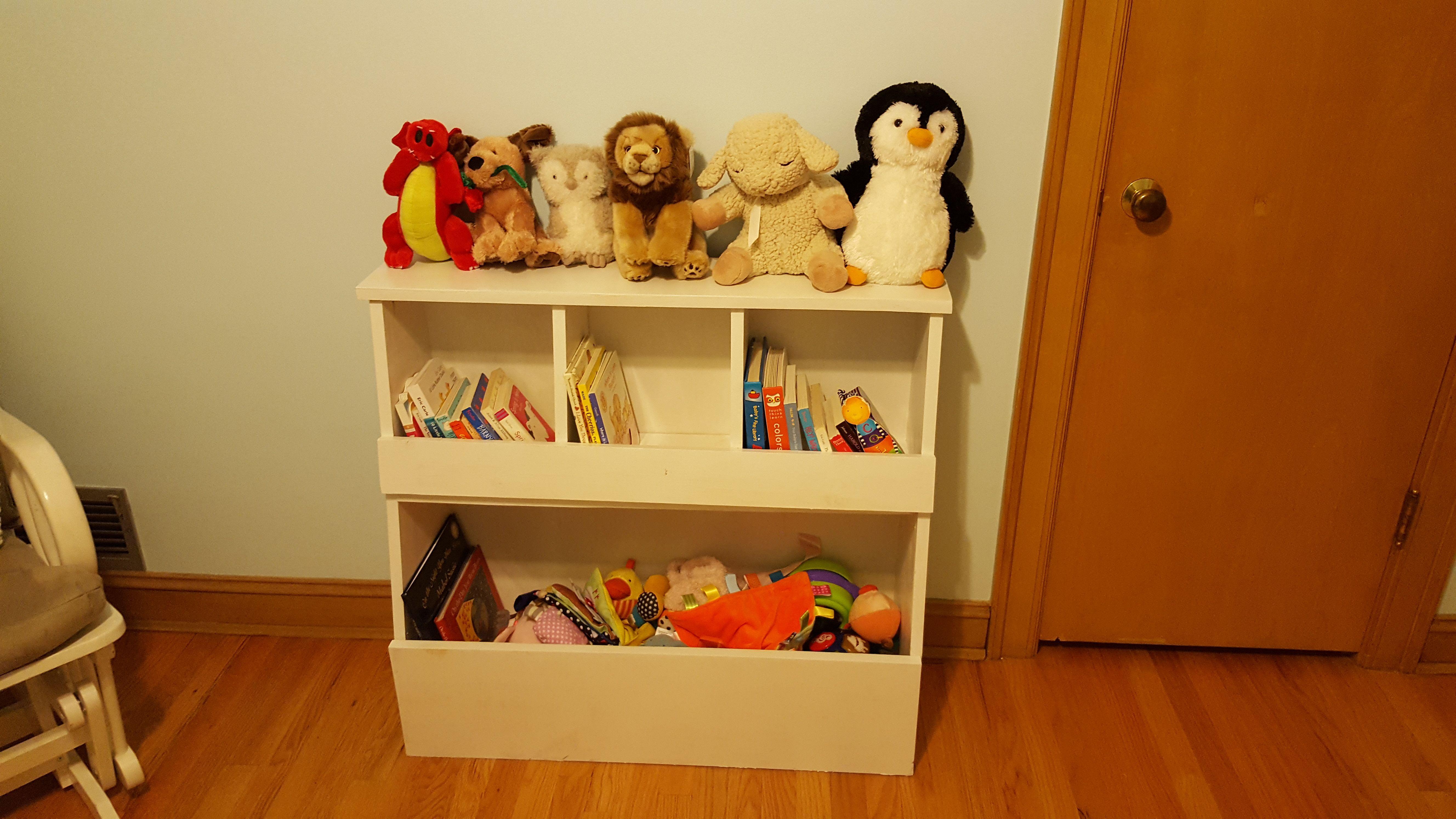Ana White | Toy Storage Bin Box with Cubby Shelves - DIY ...