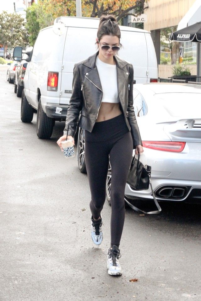 5cf9ed3710 ... Technologic Cutout Aviator Sunglasses, Lululemon Athletica Wunder Under  Pant, Céline Nano Bag, Balenciaga Multi-Material Marble Sneakers. Kendall  Jenner ...