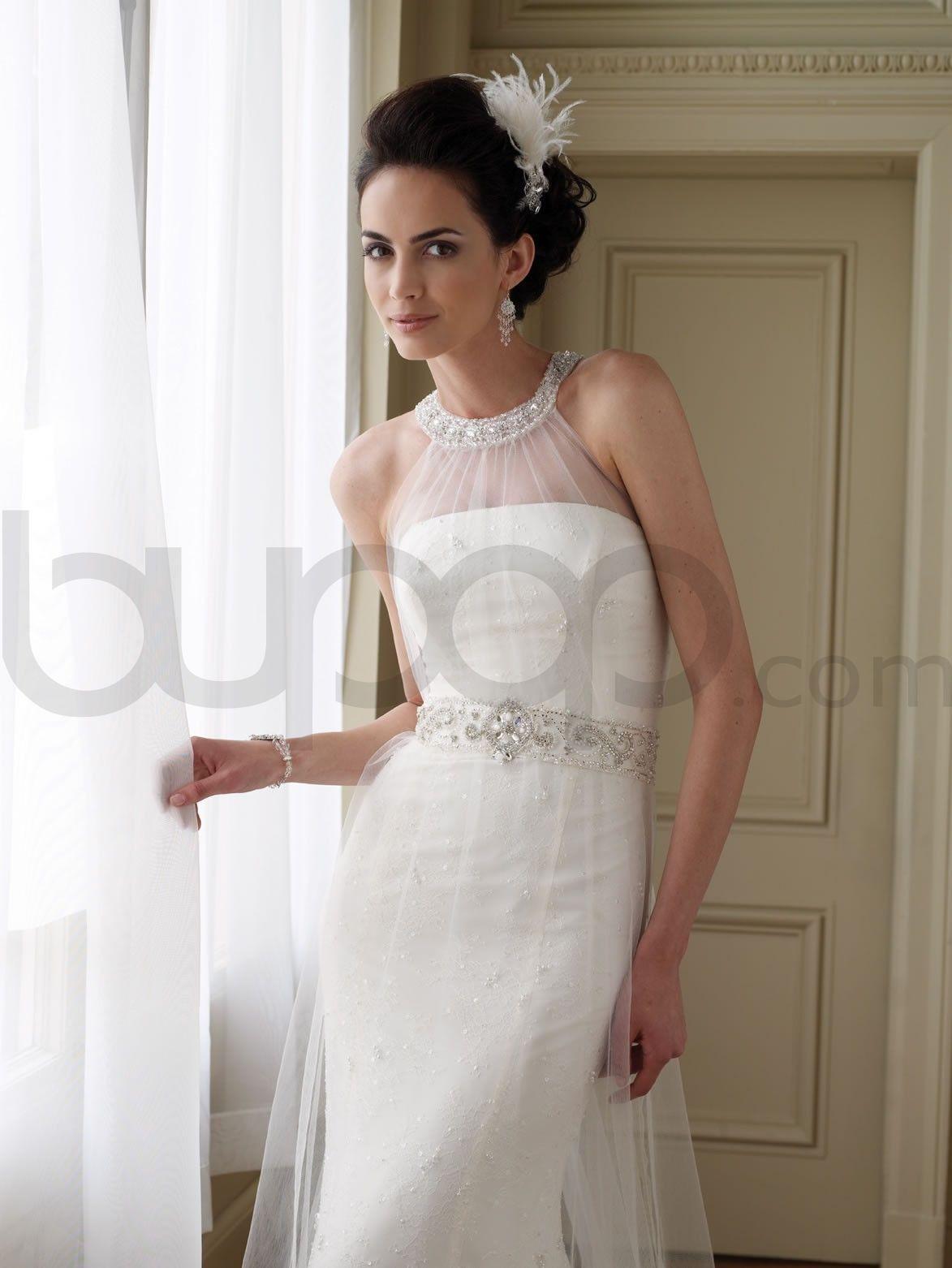 High Neck Halter Wedding Dress And Bridal Inspiration