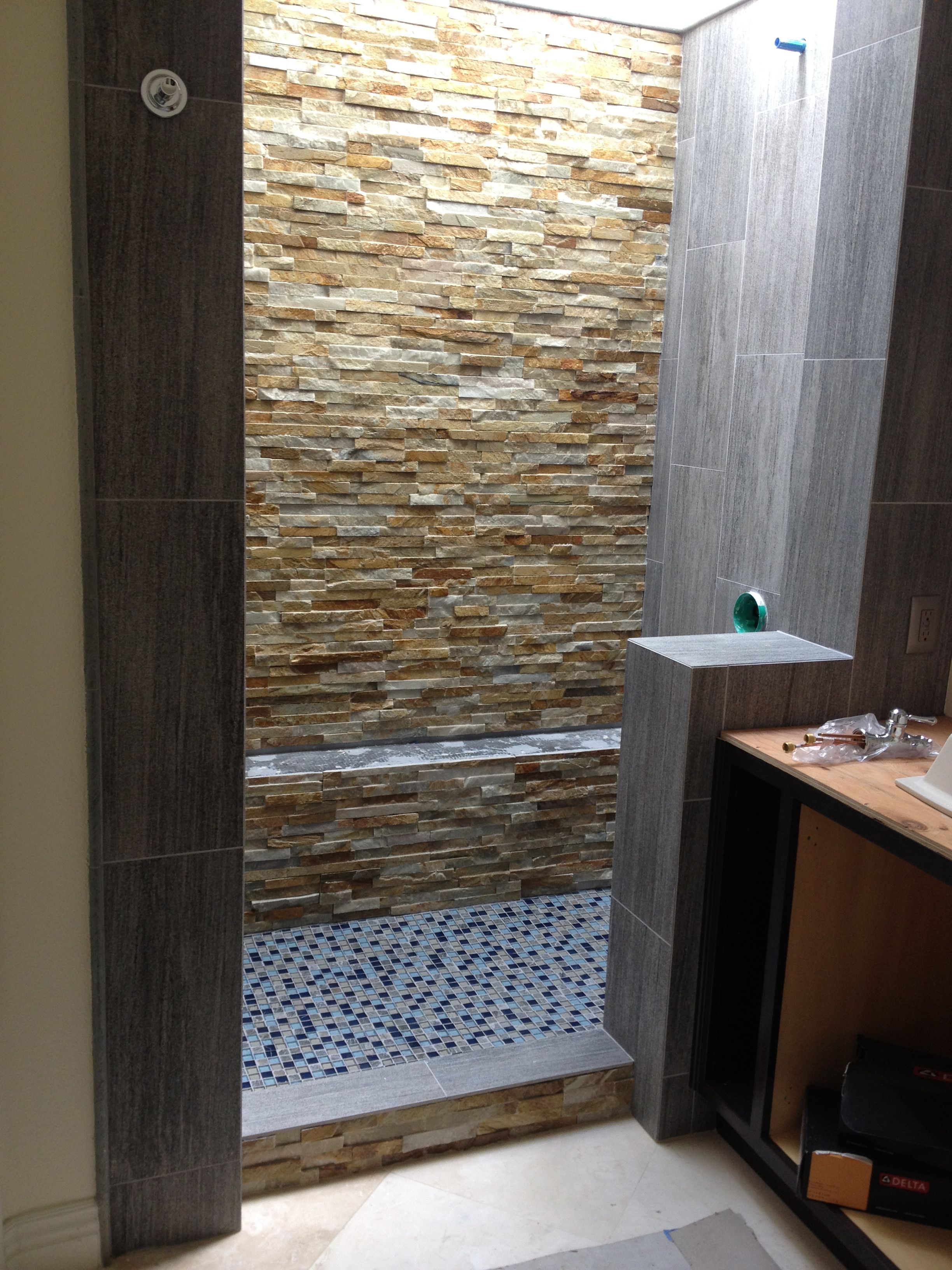 During   Master Bathroom Remodel Before And After   Master Bathroom