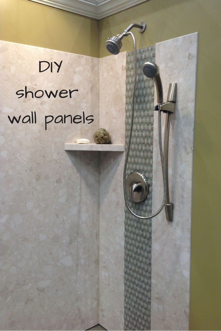 DIY Shower Wall Panels Can Have A Dramatic Look This Project Uses A - Fake tile panels for bathroom walls