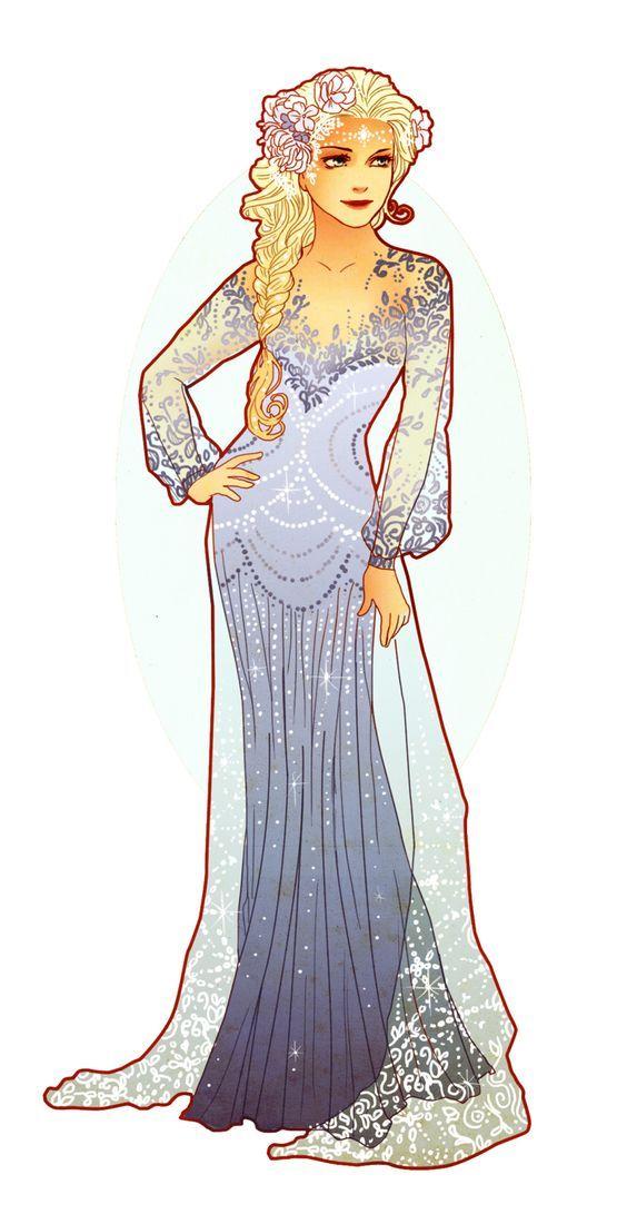Art Nouveau Elsa by Hannah-Alexander http://neverbirddesigns.tumblr.com/: