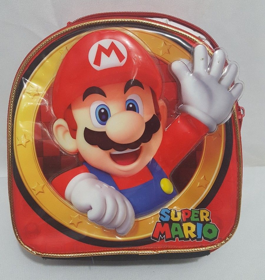 Super Mario Canvas 3D Embossed Insulated Lunch Box - LIMITED SUPPLY #SuperMario