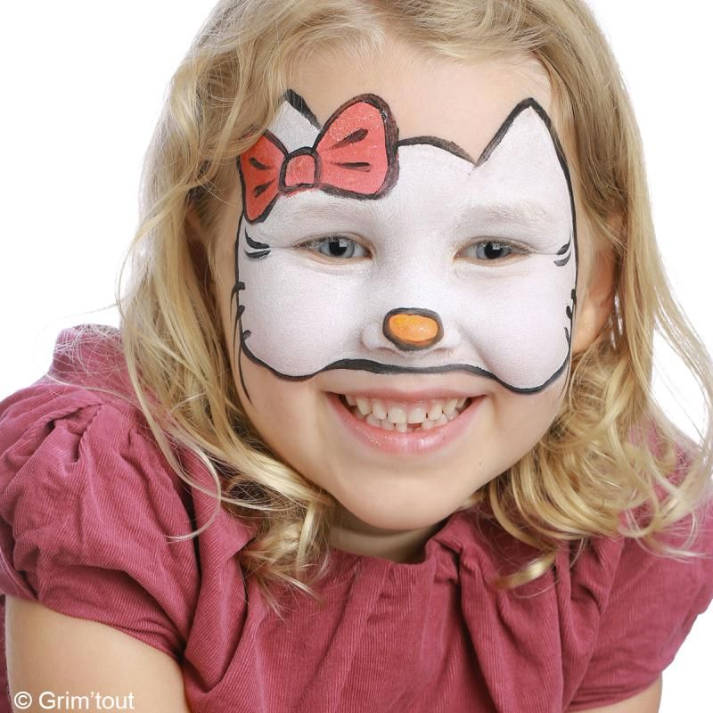 Tuto maquillage hello kitty id es conseils et tuto maquillage hello kitty et chats - Maquillage visage enfant ...