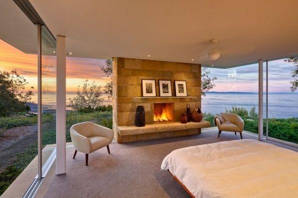 modernes wohnzimmer-glaswand kamin | house ideas | pinterest, Wohnzimmer design