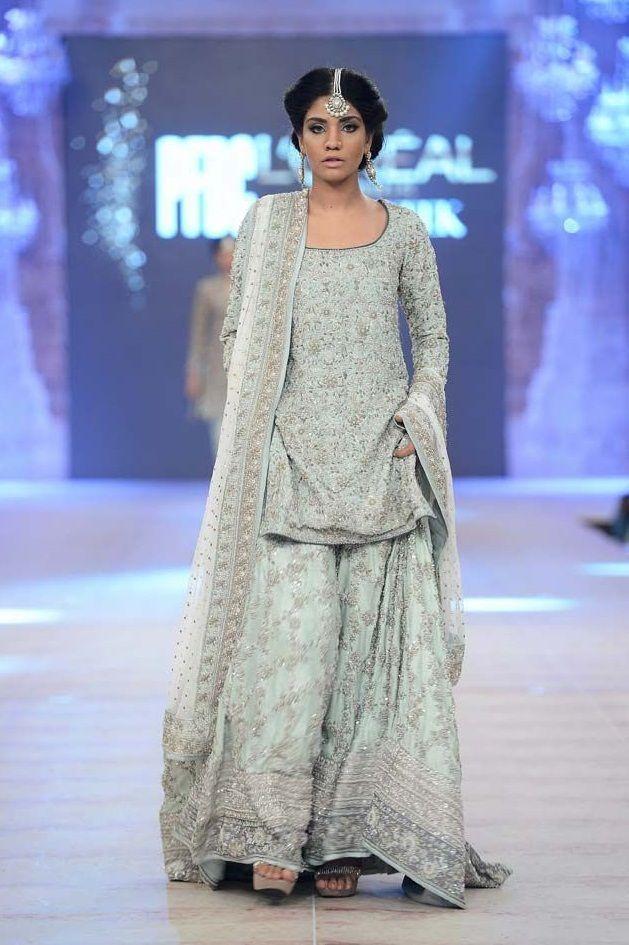 Latest Wedding Bridal Sharara Designs & Trends 2019-2020 Collection #shararadesigns Indian light blue Latest Wedding Bridal Sharara Designs 2015-2016 Collection #shararadesigns