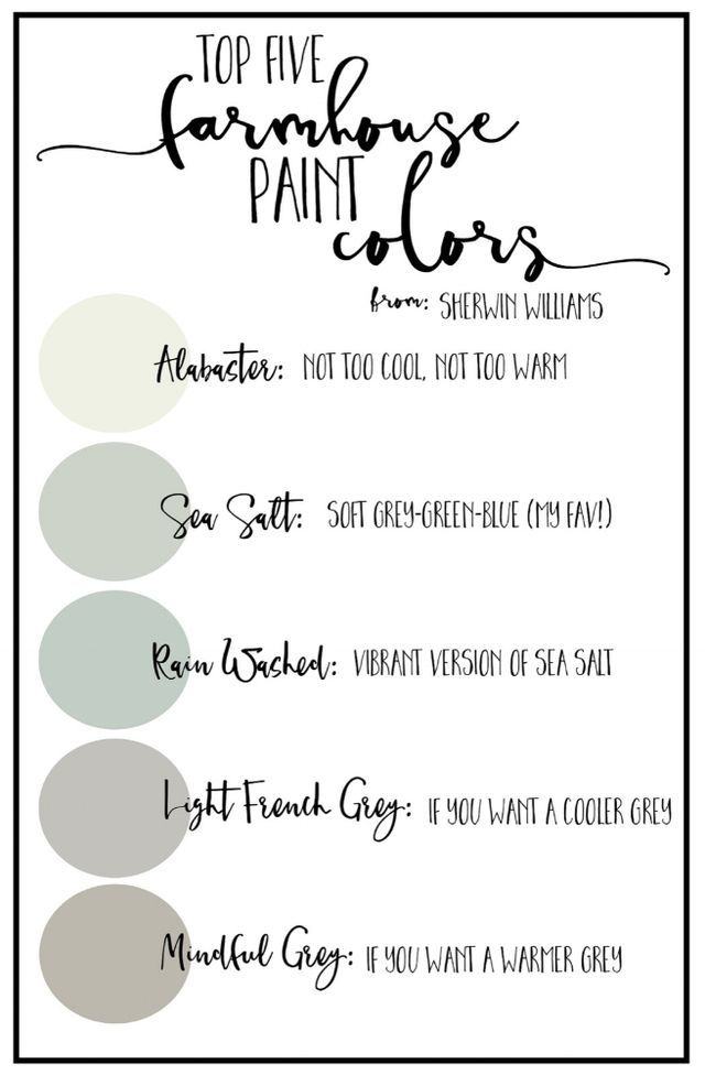 How To Pick Foolproof Farmhouse Paint Colors Blog