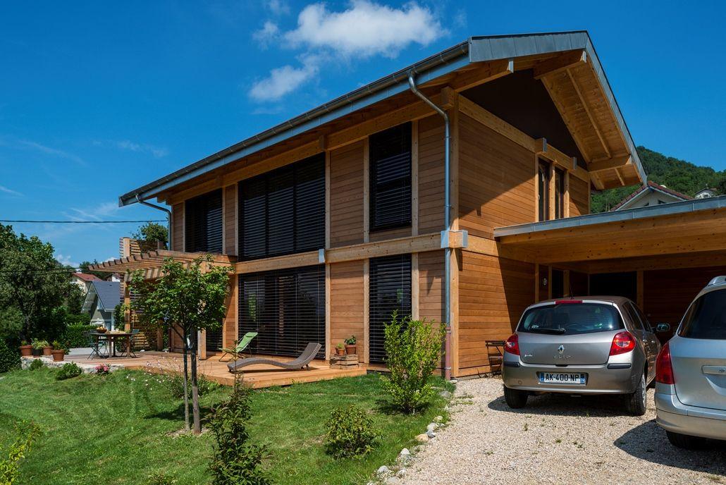 Maison Bois poteau poutre Haute-Savoie 74 Archi Pinterest