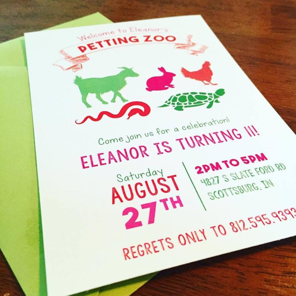 Petting Zoo Birthday Invitations   Zoo birthday, Invitations and Zoos