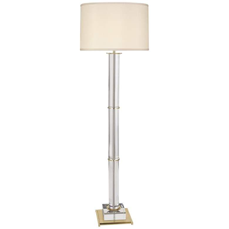 Finnie Modern Brass And Clear Crystal Floor Lamp 9r622 Lamps Plus In 2020 Crystal Floor Lamp Crystal Floor Lamp
