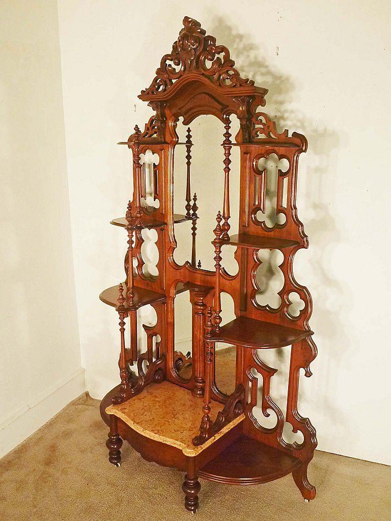 Victorian Walnut Etagere | Living Room | Pinterest | Repisas ...