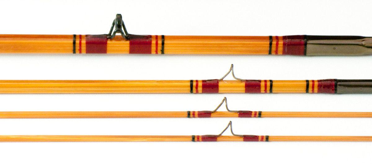 "Carlson, Sam - ""Thomas Carlson"" Quad Bamboo Rod - 8' 3/2 5wt - Vintage Fly Tackle"
