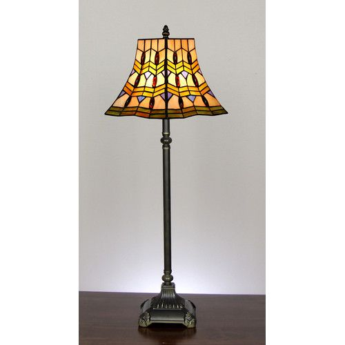 Tiffany Vienna Tall Table Lamp In Zinc Alloy Forest Tiffany