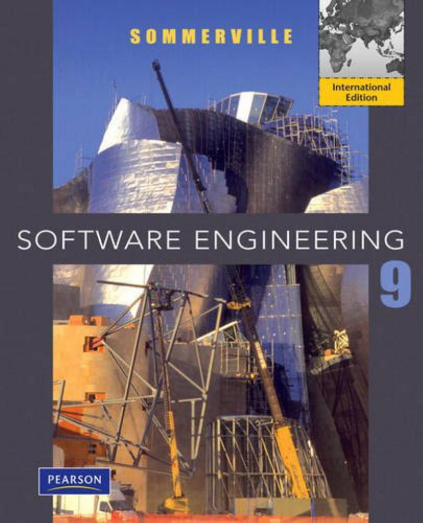 I\'m selling Software Engineering (9th Edition) by Ian Sommerville ...