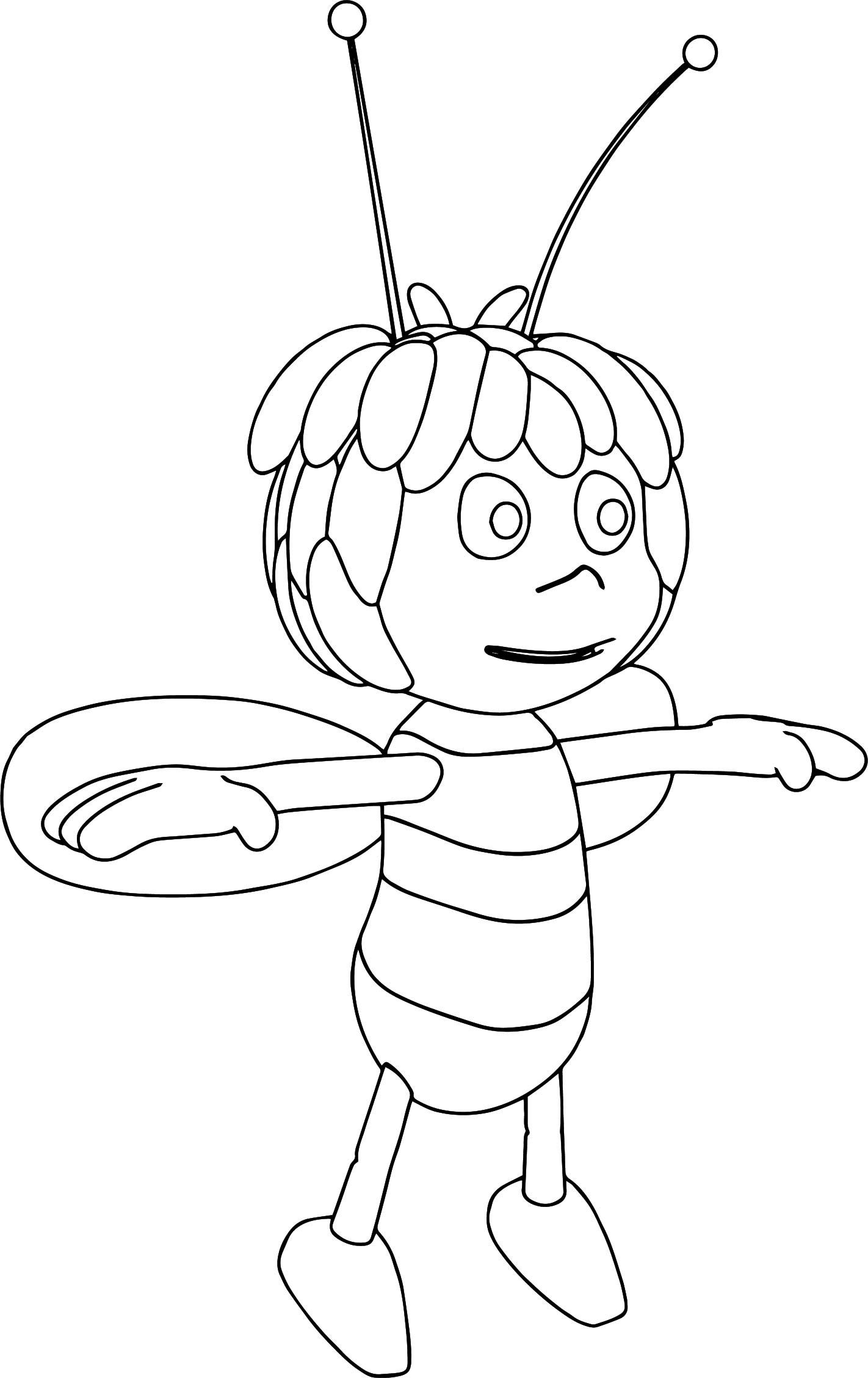 Maya Bee Coloring Pages Designs Trend