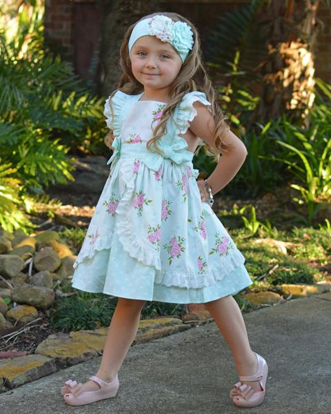 Serendipity Clothing English Rose Party Dress Style 1808 Girls Boutique Dresses Kids Fashion Clothes Kids Boutique Clothing