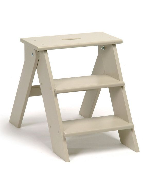 Amazing Garden Trading Wooden Step Stool   Clay   NEW