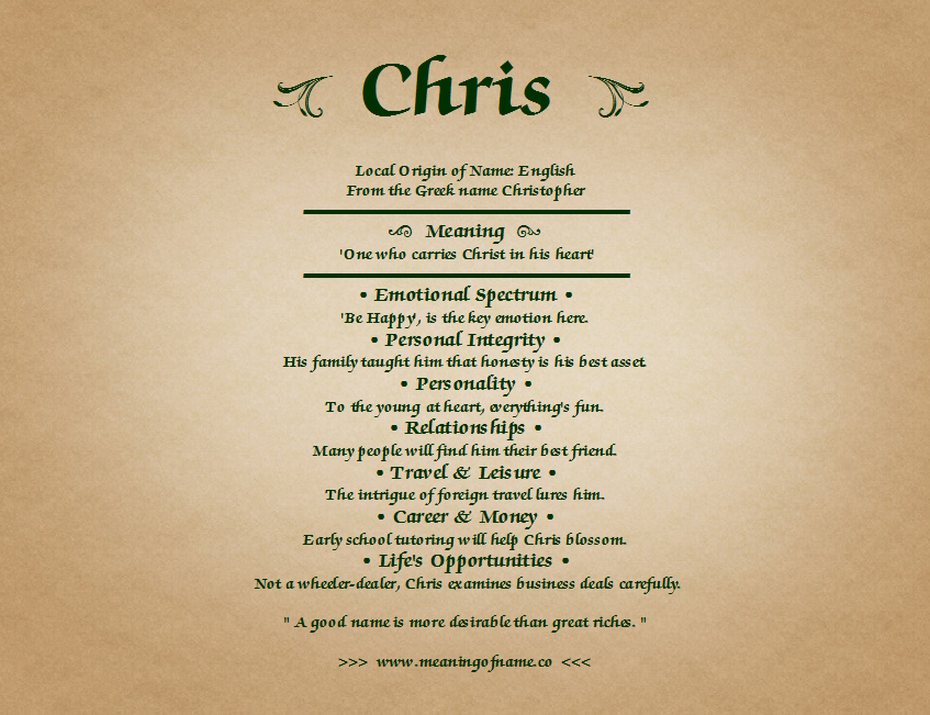 Meaning Of Name Chris Names With Meaning Great Quotes Names