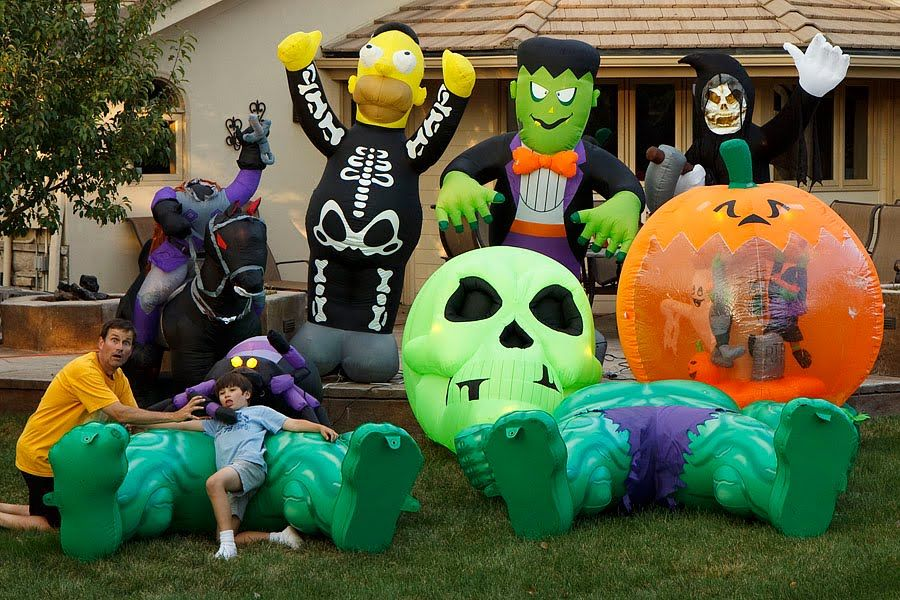 You Can Never have Too Many Inflatables in Your Yard can you-Yes - inflatable halloween decoration