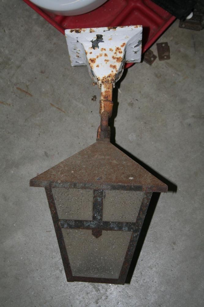 1910s Tudor Mission Arts And Crafts Bungalow Porch Ceiling Light Fixture