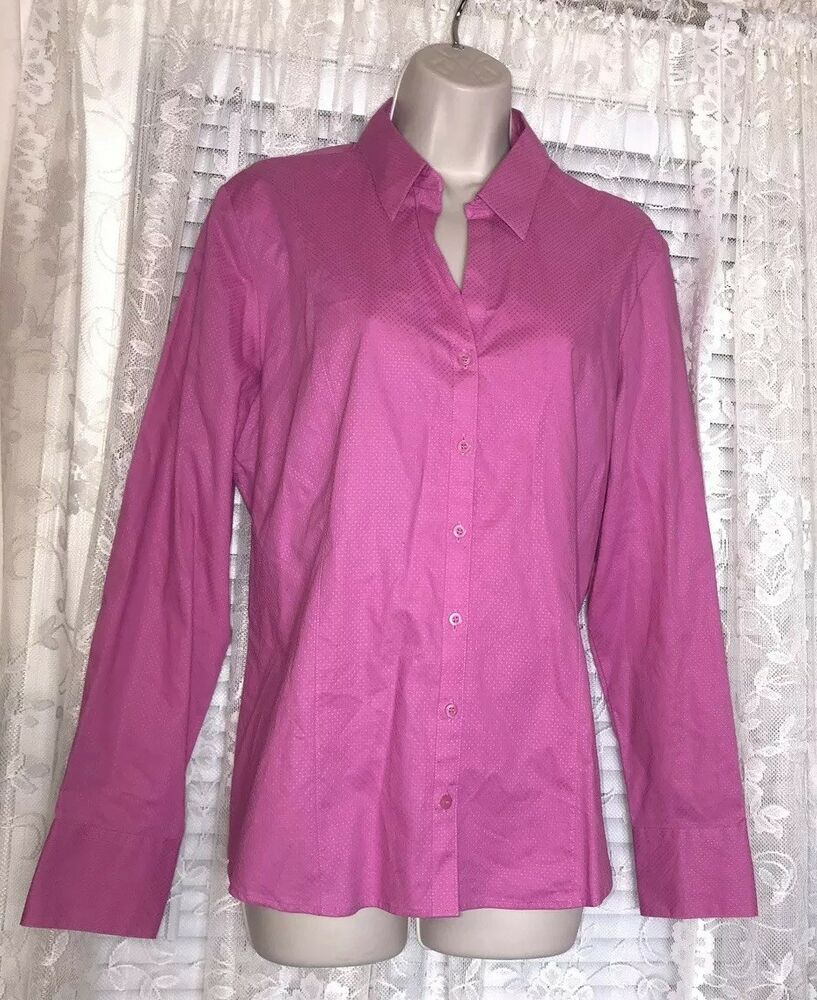 Austin Reed Fuschia Pink Dobby Spot Blouse Womens Size Uk 18 Us 14 Fashion Clothing Shoes Accessories Womenscloth Spotted Blouse Casual Blouse Casual Tops
