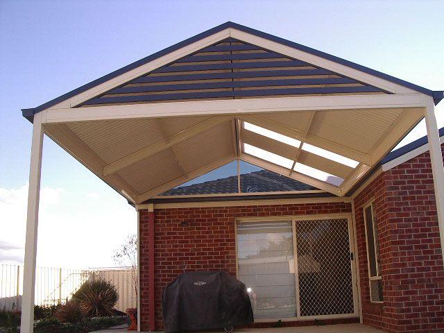 Pergolas plus outdoor living gable roof slatted gable for Gable patio designs