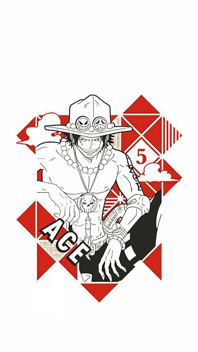 Portgas D Ace Wallpaper Ponsel Desain Tipografi One Piece