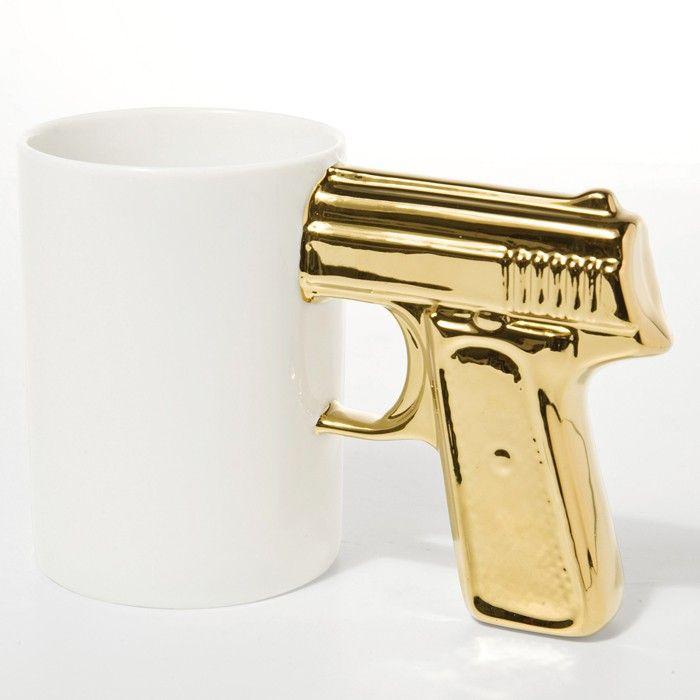 James Bond lässt grüßen! KARE Tasse Top Gun Glamour - Gold