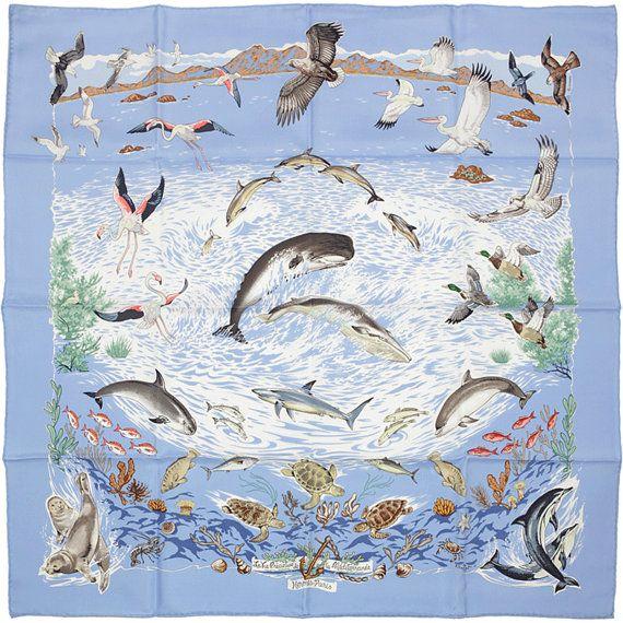 HERMES SCARF Silk La Vie Precieuse de Mediterrannee by by EXANYC
