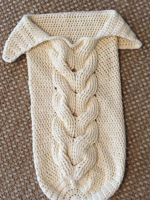Cabled Baby Cocoon Free Knitting Pattern Knitting Pinterest