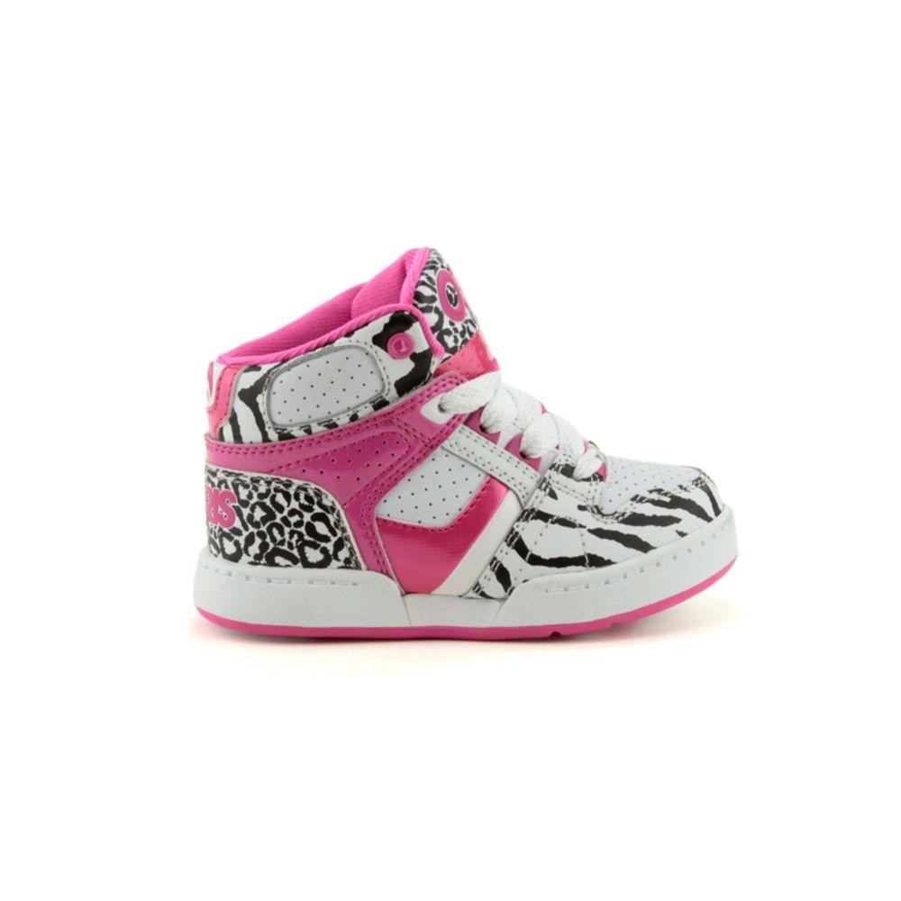 e6289e76ad4 Toddler Osiris NYC 83 Skate Shoe, WhiteZebraPink Journeys Kidz ...