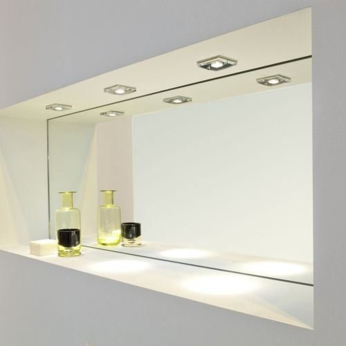 Bathroom Light Ip65 astro lighting - spot encastrable carré ice 230v ip65 - chrome