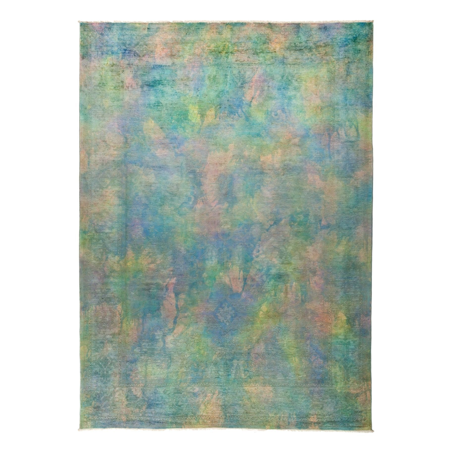 Gonargan Hand Knotted Overdyed Area Rug 9 X 12 4