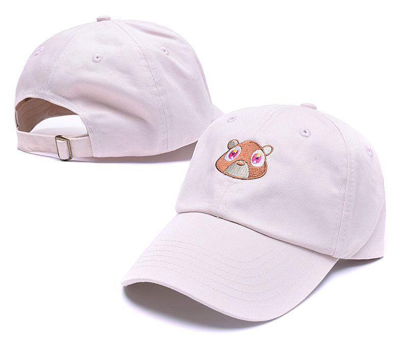 60e5673c Black Pink Tan Kanye West Graduation College Dropout Bear Dad Hat Cap Never  not weird Baseball Cap Hip Hop Summer Snapback hat