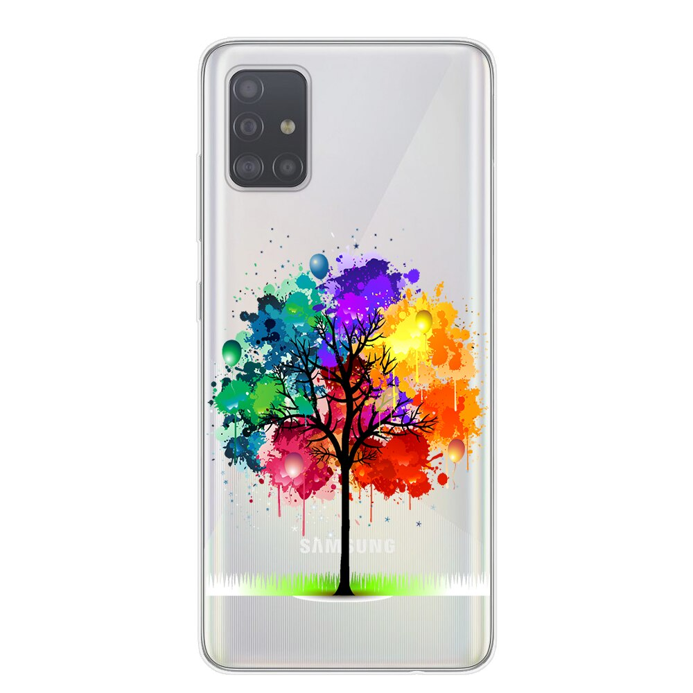 Flowers Case For Samsung Galaxy A10 A20 A30 A40 A50 A70 A51 A71 Case Silicone Back Cover For Coque Samsung S20 Plus Samsung Cases Phone Case Cover Phone Cases