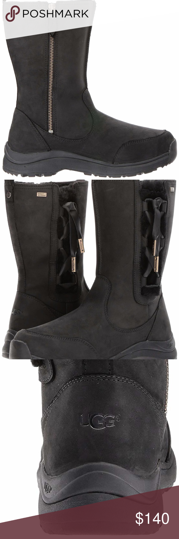 001a74ad36f Ugg Suvi Waterproof Leather boots NEW Model: 1018333 Satin corset ...
