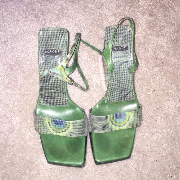 CASADEI Made in Italy , Size 6 CASADEI Open Toe Ankle Strap Wedges  Made in Italy , Size 6, No box , Used Casadei Shoes