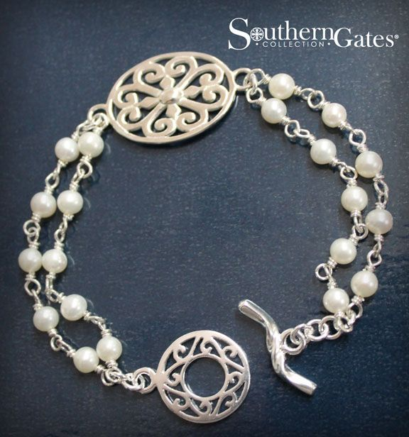 Southern Gates 174 Hand Wrought Pearl Bracelet Jk30